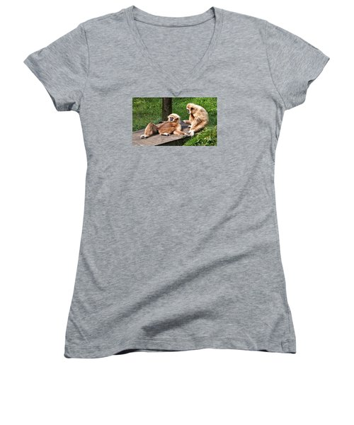 Lazy Life Women's V-Neck T-Shirt