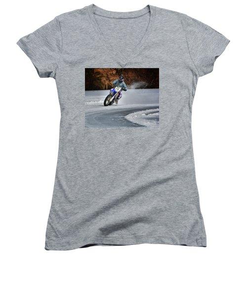 Leader O' Da Pack Women's V-Neck T-Shirt (Junior Cut) by Robert McCubbin