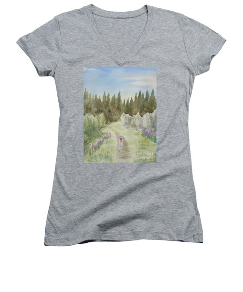Leading The Way Women's V-Neck (Athletic Fit)