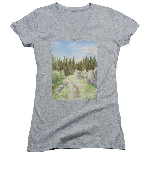 Leading The Way Women's V-Neck T-Shirt