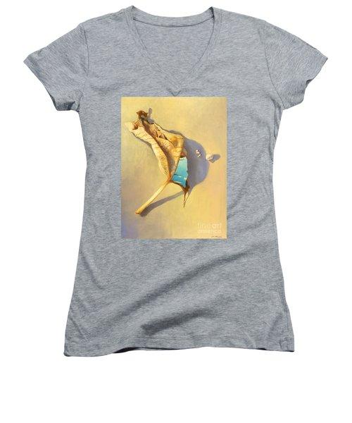 Leaf Of Life Women's V-Neck T-Shirt