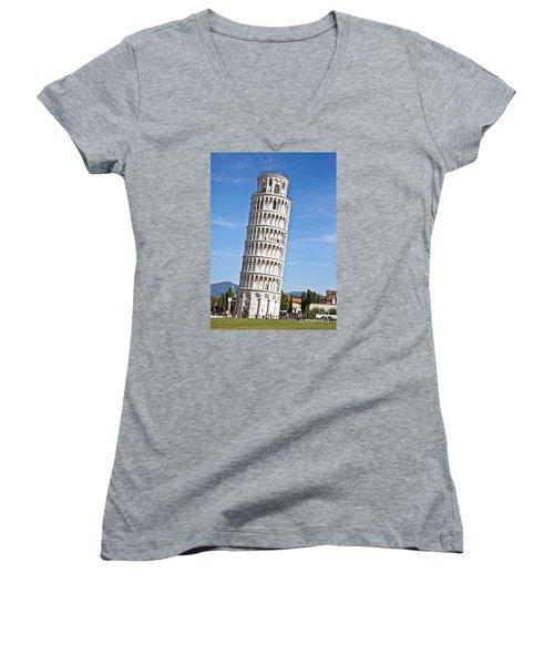 Leaning Tower Of Pisa Women's V-Neck T-Shirt