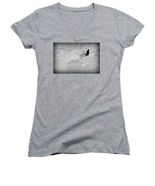 Leavenworth Women's V-Neck T-Shirt (Junior Cut) by Lynn Sprowl