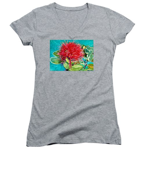 Lehua Blossom Women's V-Neck T-Shirt