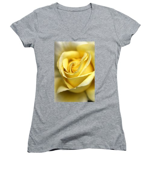 Women's V-Neck T-Shirt (Junior Cut) featuring the photograph Lemon Lush by Joy Watson