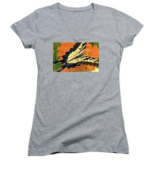 Lepidoptery Women's V-Neck T-Shirt (Junior Cut) by Joel Deutsch