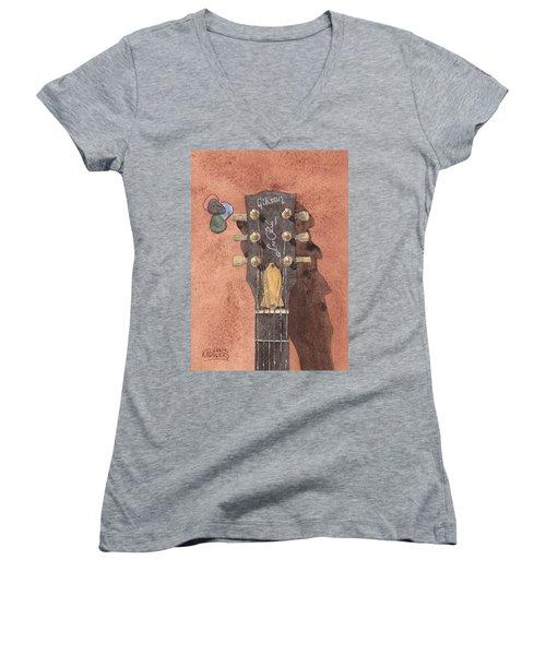 Les Paul Women's V-Neck T-Shirt