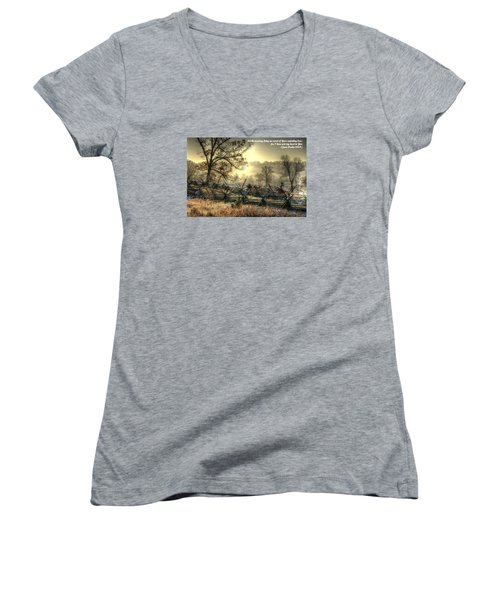 Let The Morning Bring Me Word Of Your Unfailing Love - Psalm 143.8 Women's V-Neck (Athletic Fit)