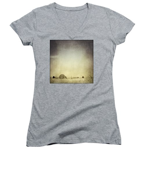 Let The Rain Come Down Women's V-Neck T-Shirt (Junior Cut) by Trish Mistric