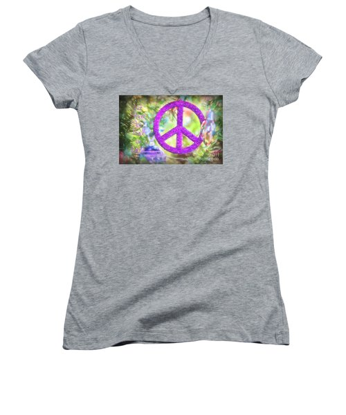 Let There Be Peace On Earth Women's V-Neck (Athletic Fit)