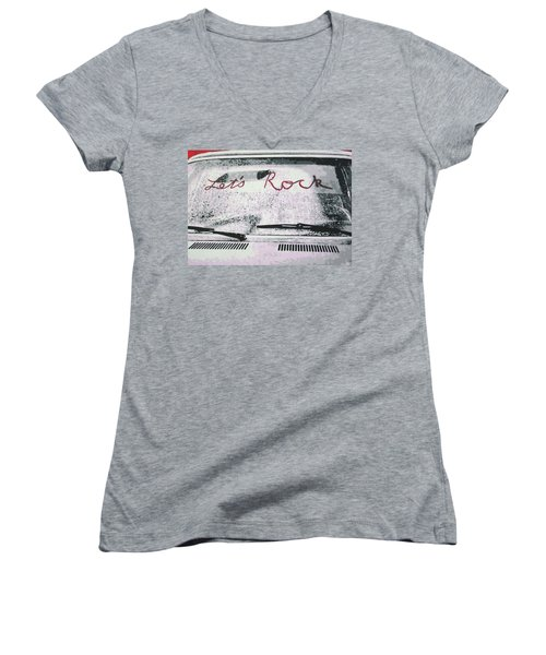 Lets Rock Women's V-Neck T-Shirt
