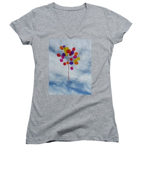 Letting Go Women's V-Neck T-Shirt (Junior Cut) by Emmy Marie Vickers