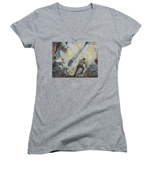 Liberator's Guardian Angles Women's V-Neck T-Shirt