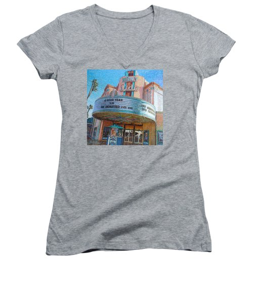 Lido Theater Women's V-Neck (Athletic Fit)