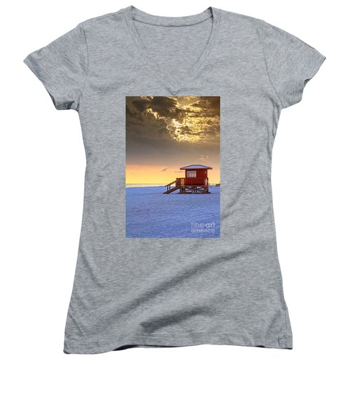 Life Guard 1 Women's V-Neck T-Shirt