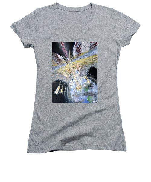 Light Of Awakening Women's V-Neck T-Shirt