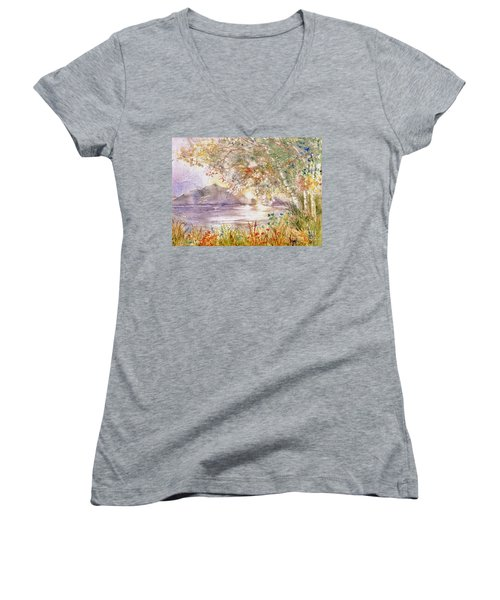 Light Through The Pass Women's V-Neck (Athletic Fit)