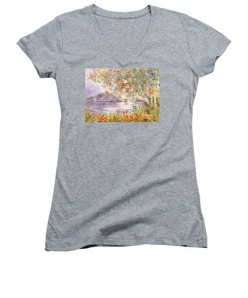 Light Through The Pass Women's V-Neck T-Shirt