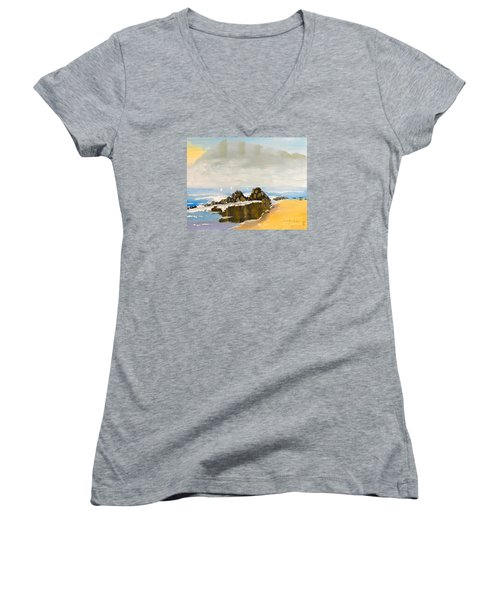 Lighthouse Beach Women's V-Neck T-Shirt