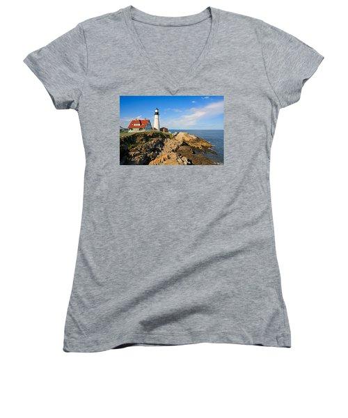 Lighthouse In The Sun Women's V-Neck