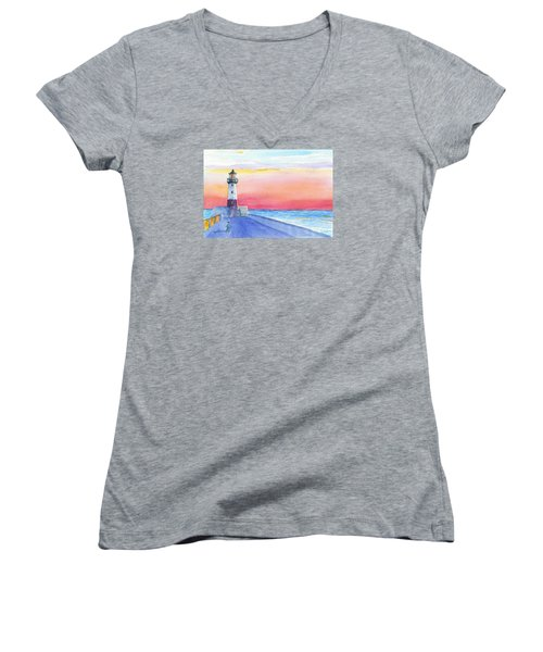 Lighthouse Keeper Women's V-Neck (Athletic Fit)
