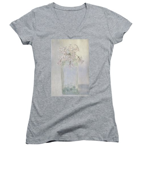 Lilac Flower Women's V-Neck