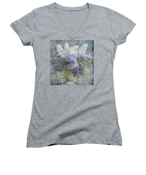 Lilac Women's V-Neck T-Shirt