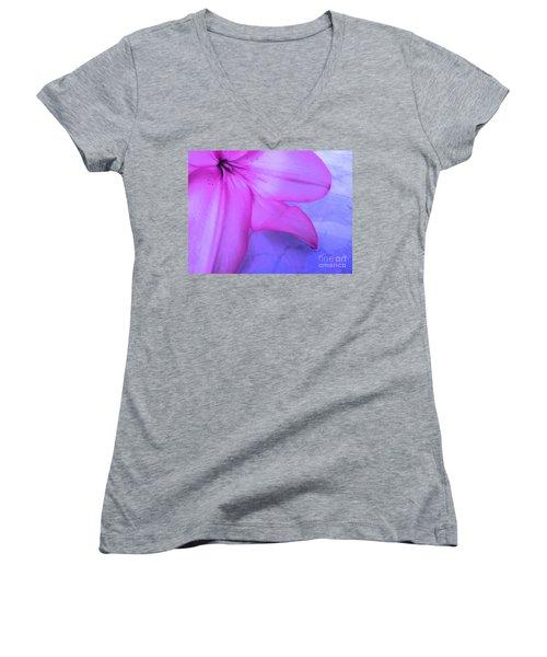 Lily - Digital Art Women's V-Neck