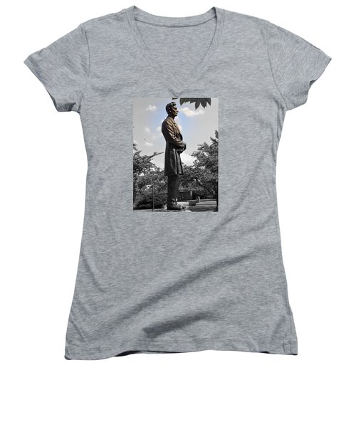 Lincoln At Lytle Park Women's V-Neck T-Shirt