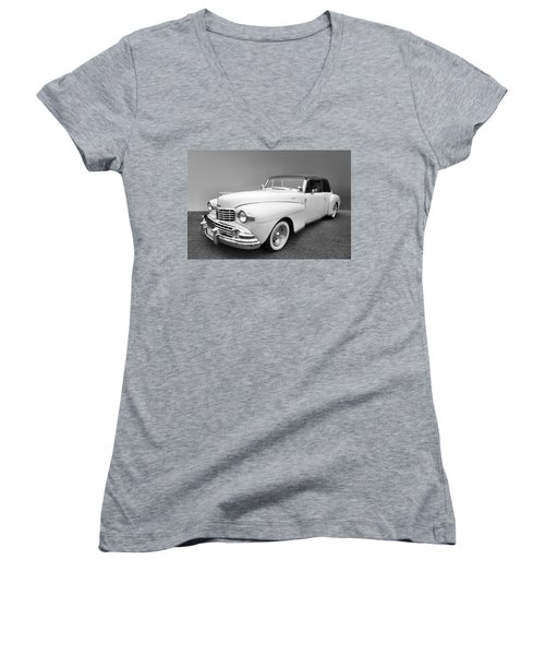 Lincoln Continental Women's V-Neck T-Shirt (Junior Cut) by Kristin Elmquist