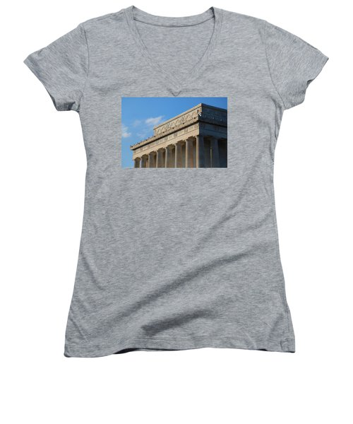 Lincoln Memorial - The Details Women's V-Neck (Athletic Fit)