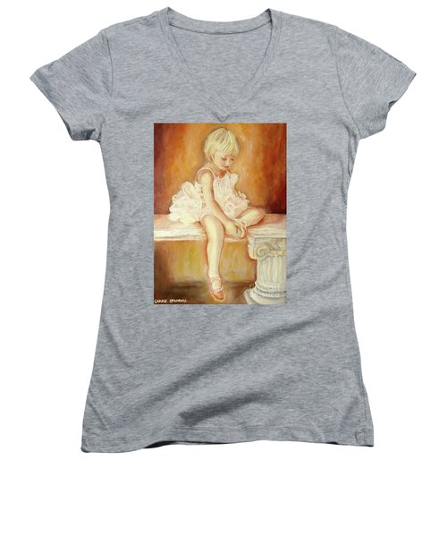 Little Ballerina Women's V-Neck