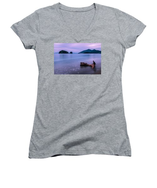 Little Corner By The Sea Women's V-Neck (Athletic Fit)