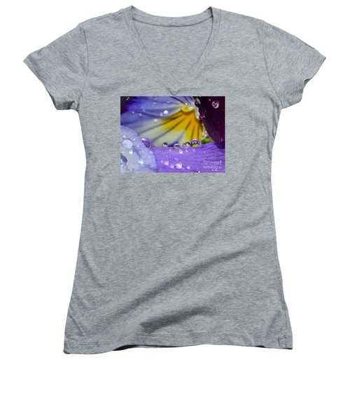 Little Faces Women's V-Neck T-Shirt (Junior Cut) by Amy Porter