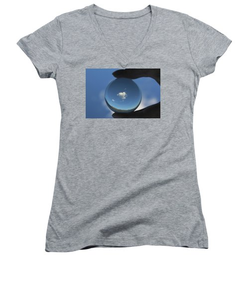 Little Heart Cloud Women's V-Neck T-Shirt
