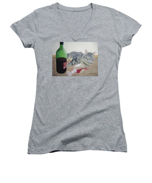 Little Ol' Wine Drinker Me Women's V-Neck (Athletic Fit)