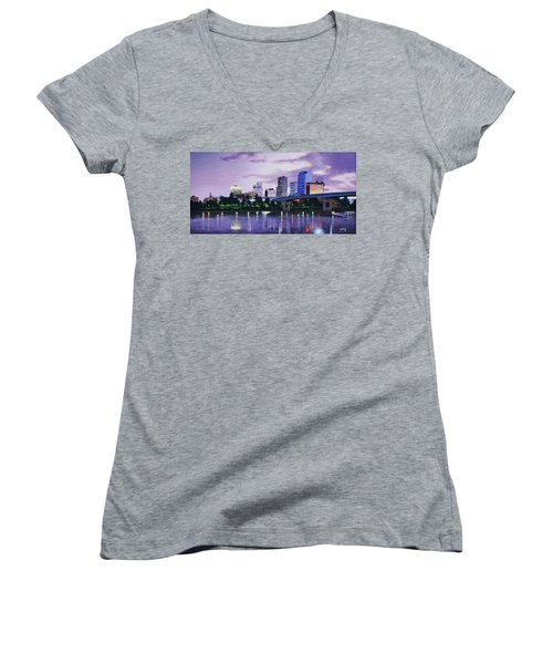 Little Rock Skyline Women's V-Neck