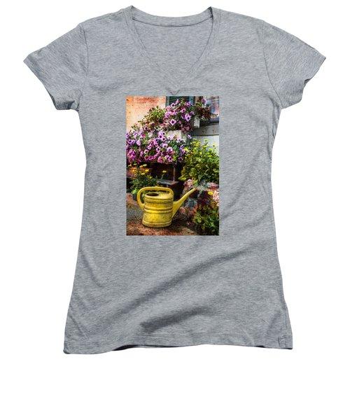 Little Swiss Garden Women's V-Neck