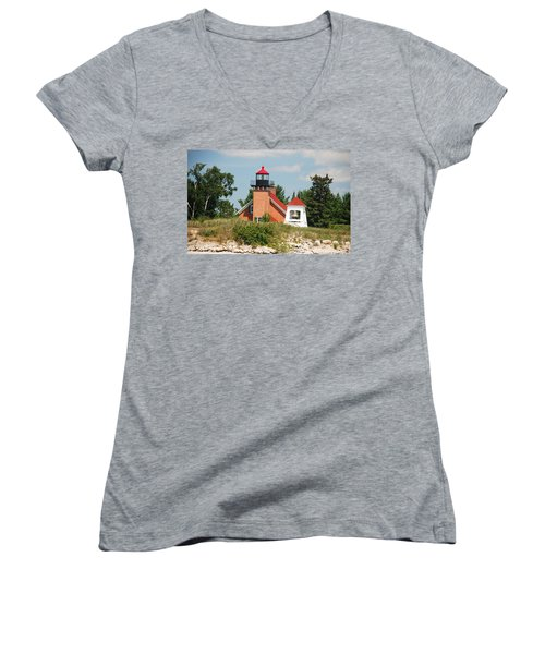 Little Traverse Lighthouse No.2 Women's V-Neck T-Shirt