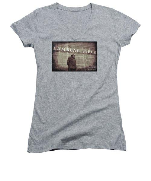 Lombardi At Lambeau Women's V-Neck T-Shirt