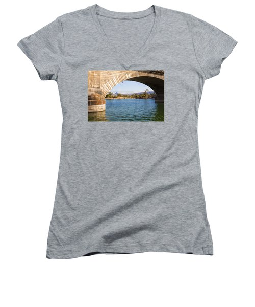 London Bridge At Lake Havasu City Women's V-Neck (Athletic Fit)