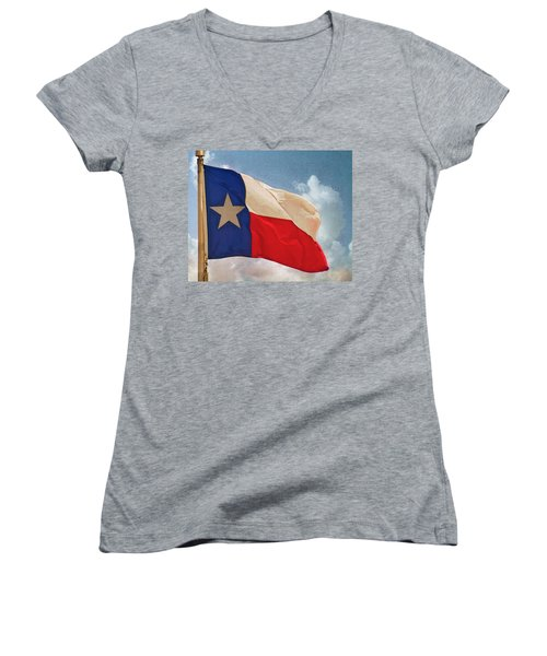 Lone Star Flag Women's V-Neck T-Shirt