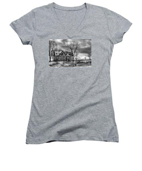 Long Hard Winter Women's V-Neck T-Shirt