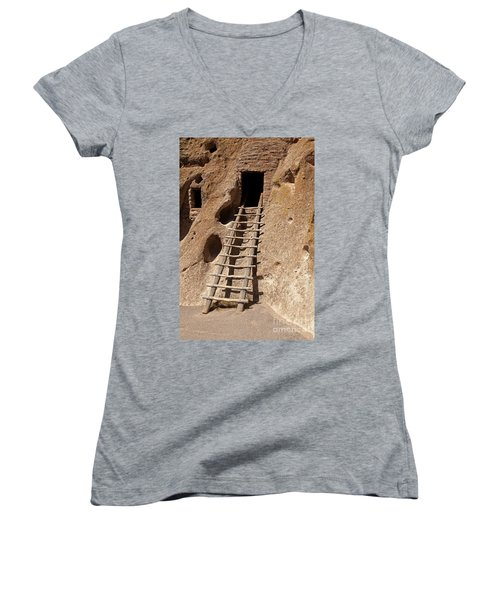 Long House Front Door Bandelier National Monument Women's V-Neck (Athletic Fit)