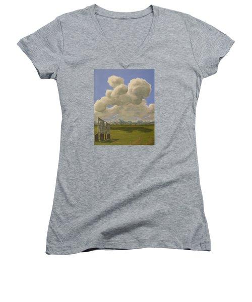 Long Intermission Women's V-Neck T-Shirt (Junior Cut) by Jack Malloch