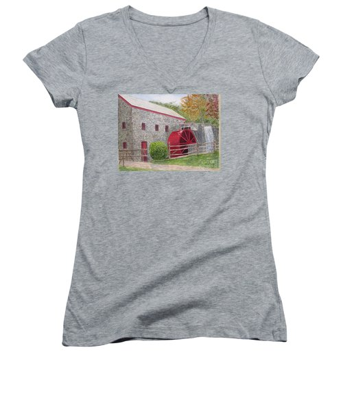 Longfellow's Gristmill Women's V-Neck (Athletic Fit)