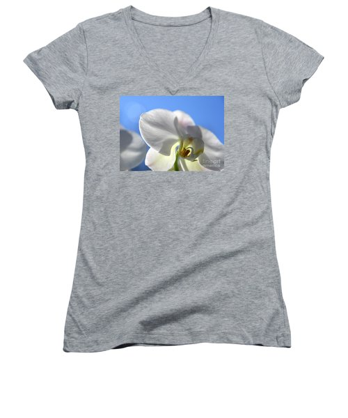 Look To The Sky  Women's V-Neck T-Shirt