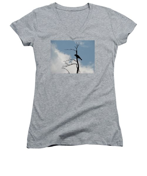 Women's V-Neck T-Shirt (Junior Cut) featuring the photograph Looking Down On Me  by Michael Krek