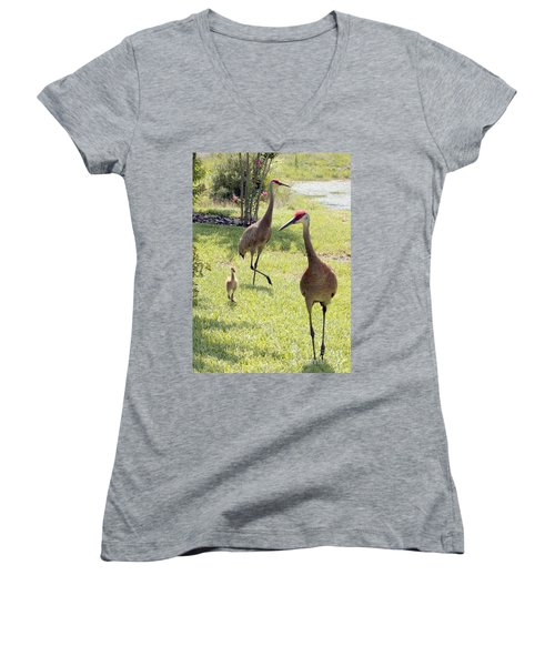 Looking For A Handout Women's V-Neck T-Shirt