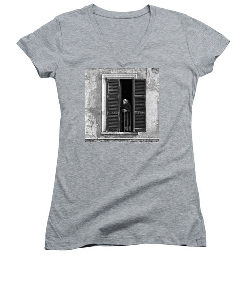 Looking Outside Women's V-Neck